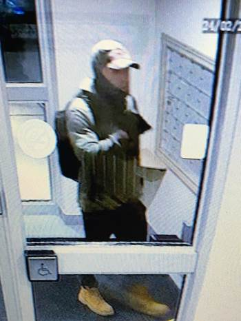 Chatham-Kent police say this man is accused of stealing a bicycle from an apartment complex in Chatham. (Photo courtesy of Chatham-Kent police)
