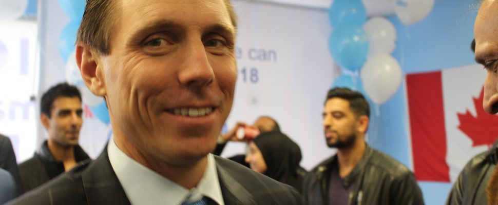Progressive Conservative party leadership candidate Patrick Brown on February 24, 2018. (Photo by Adelle Loiselle)