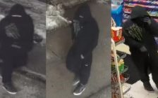 Suspect wanted in relation to convenience store robbery, Feb. 14, 2018. Provided by Windsor Police