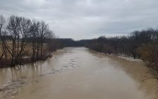 Thamesville & Chatham brace for flooding on Friday. Feb 22, 2018. (Photo courtesy of Lower Thames Valley Conservation Authority)