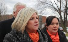 NDP leader Andrea Horwath in Windsor, March 9, 2018. (Photo by Maureen Revait)