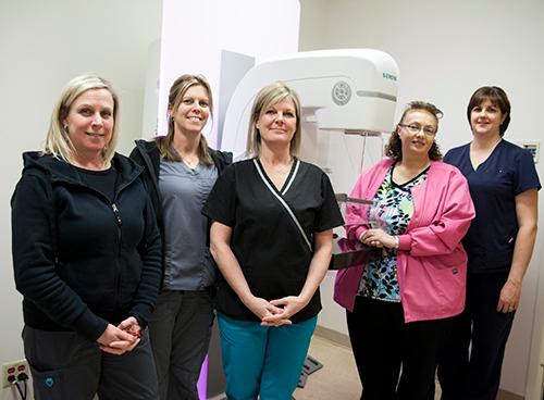 CKHA diagnostic imaging staff; Lisa Seyes, Julie Page, Jennifer Oslund, Lynn Handsor & Sharron Nevills. (Photo courtesy of CKHA)