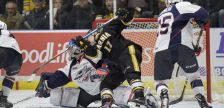 The Windsor Spitfires take on the Sarnia Sting, March 23, 2018. (Photo courtesy of Metcalfe Photography)