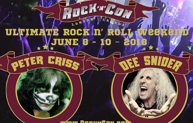 Dee Snider of Twisted Sister and Peter Criss of Kiss to headline Rock n' Con at London Music Hall June 9 and 10. Photo submitted by Rock n' Con.