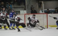 The Chatham Maroons play the London Nationals at the Memorial Arena in Chatham. March 20, 2018. (Photo by Sarah Cowan Blackburn News Chatham-Kent).