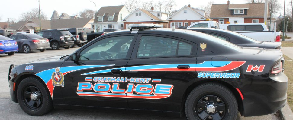 Chatham-Kent police cruiser. March 26, 2018. (Photo by Sarah Cowan Blackburn News Chatham-Kent).