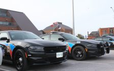 Chatham-Kent police cruisers. March 26, 2018. (Photo by Sarah Cowan Blackburn News Chatham-Kent).