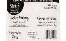 The Canadian Food Inspection Agency is recalling pre-packaged cooked baby shrimp. Mar 02, 2018. (Photo courtesy of Canadian Food Inspection Agency)