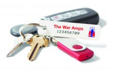 War Amps Key Tag on a key ring. (Photo courtesy of the War Amps)