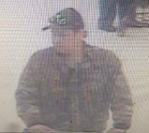 Suspect in Walmart theft. (Photo courtesy of Chatham-Kent Police Service).