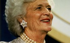 Barbara Bush. (Photo courtesy of David Valdez, White House Photo Office via Wikipedia)