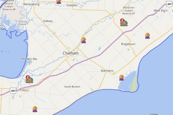 Hydro One power outage map. April 16, 2018. (Photo courtesy of the Hydro One Storm Center)