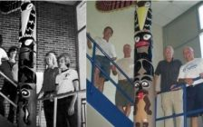Tecumseh SS Totem Pole. (Photo from the Change.org petition).