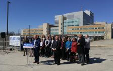 Ontario PC leader Doug Ford announcing his plan to cut hospital waiting times at the site for the new wing of the London Road Diagnostic Clinic. April 20, 2018. (Photo by Colin Gowdy, BlackburnNews)