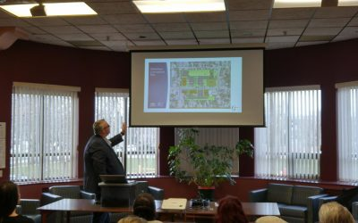 Consultants Jay McGuffin speaks to Sarnia-Lambton residents during a community meeting regarding a rezoning application for the old Sarnia General Hospital. April 17, 2018. (Photo by Colin Gowdy, Blackburn News)