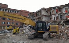 Demolition of the old Sarnia General Hospital along Mitton St. N. April 19, 2018. (Photo by Colin Gowdy, Blackburn News)