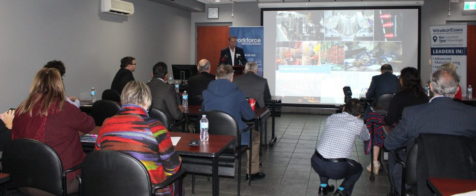 Workforce WindsorEssex and the NAFTA Working Group releases recommendations, April 5, 2018. (Photo by Maureen Revait)