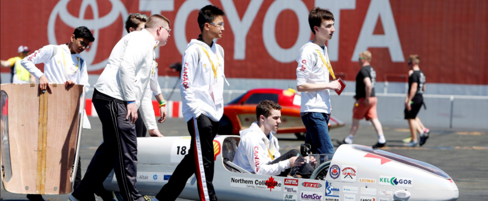 Northern Collegiate students participate in Shell Eco-Marathon. April, 2018 (Photo used with permission.)