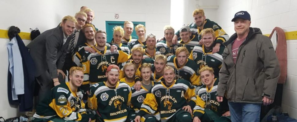 Photo of the Humboldt Broncos hockey team from Twitter @HumboldtBroncos