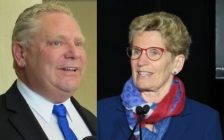 Progressive Conservative Leader Doug Ford and Premier Kathleen Wynne. (File photos by Miranda Chant, Blackburn News.)