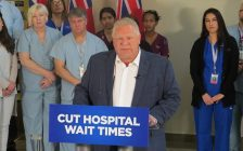 Ontario PC leader Doug Ford on a campaign stop in London, May 18, 2018. (Photo by Miranda Chant, Blackburn News)