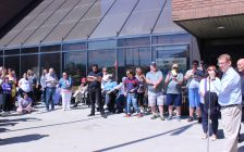 2018 Community Living Month flag raising event at Civic Centre in Chatham. May 8, 2018. (Photo by Sarah Cowan Blackburn News Chatham-Kent).