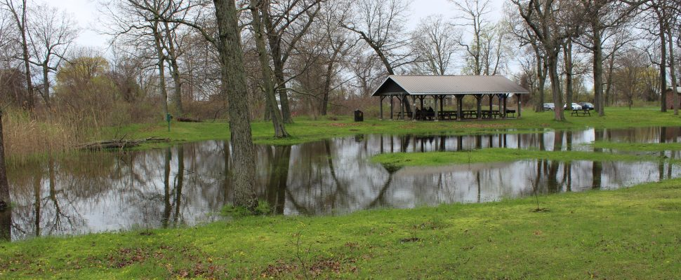Flooding at Rondeau Provincial Park. May 15, 2018. (Photo by Sarah Cowan Blackburn News Chatham-Kent).