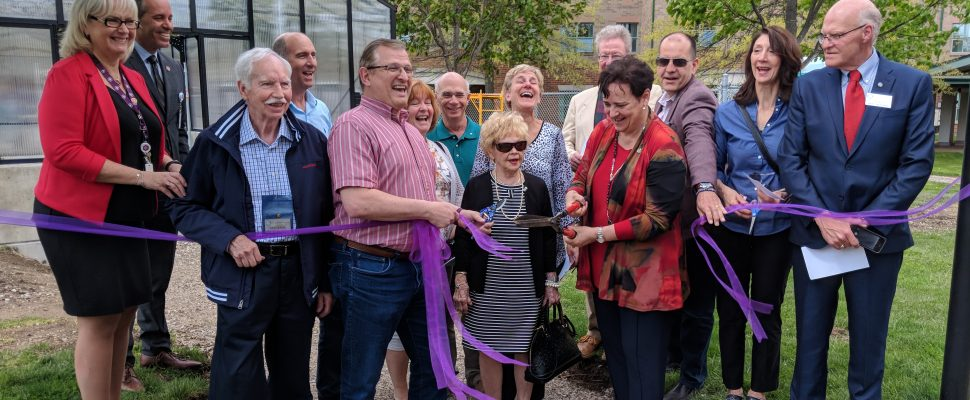 The ribbon cutting ceremony for the Windsor-St. Clair Rotary Club Children's Greenhouse at the Hôtel-Dieu Grace Healthcare Regional Children's Centre. (Photo by Alyssa Leonard)