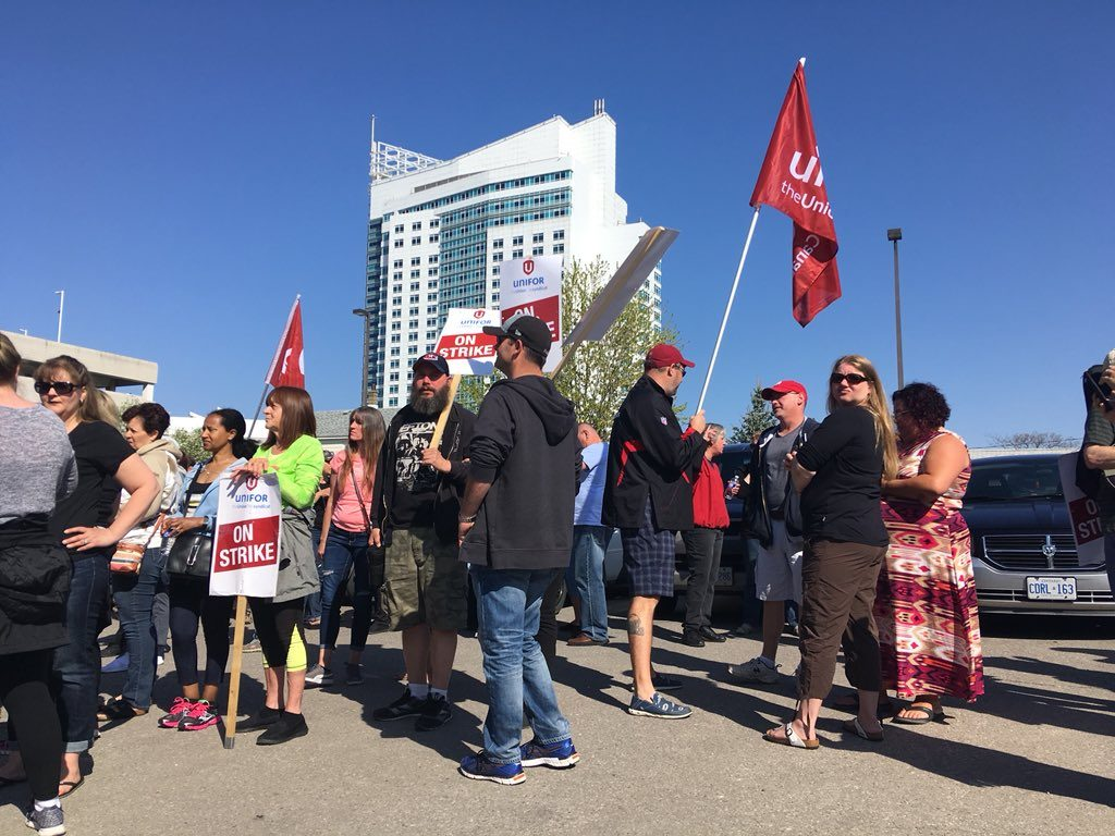 caesars casino on strike
