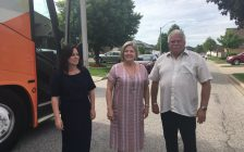 NDP leader Andrea Horwath is visiting Windsor-Essex on Wednesday to talk about better dental care for seniors and improving highways. May 30, 2018. (Photo by Paul Pedro)