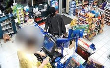 Police are looking for a suspect following two convenience store robberies in Windsor. (Photo courtesy of the Windsor Police Service via YouTube)