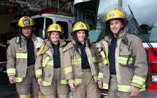 Chatham-Kent Fire and Emergency Services staff. (Photo courtesy of CKFES).