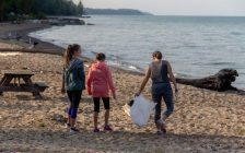 Beach cleanup (Photo courtesy of Ray Letheren of Bayfield)