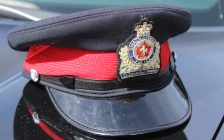 Ck Police cap. (Photo by Greg Higgins)