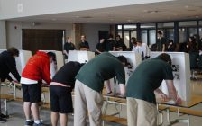 St. Patrick's Catholic High School students take part in a provincial mock election in the school cafeteria. June 7, 2018. (Photo by Colin Gowdy, BlackburnNews)