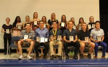 2017/2018 CKSS Athletic Banquet award winners. June 12, 2018. (Photo by Sarah Cowan Blackburn News Chatham-Kent).
