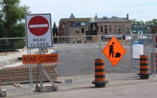 Construction on the Fifth St. Bridge in Chatham is days away from being finished. June 25, 2018. (Photo by Sarah Cowan Blackburn News Chatham-Kent).