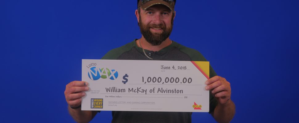 William McKay of Alvinston won $1-million in the Lotto Max June 1 draw. (Photo provided to Blackburn by OLG)