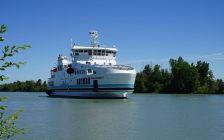 The new Pelee Islander II arrived in Pelee island, Kingsville and Leamington. June 15, 2018. (Photo courtesy of Ontario Ferries)