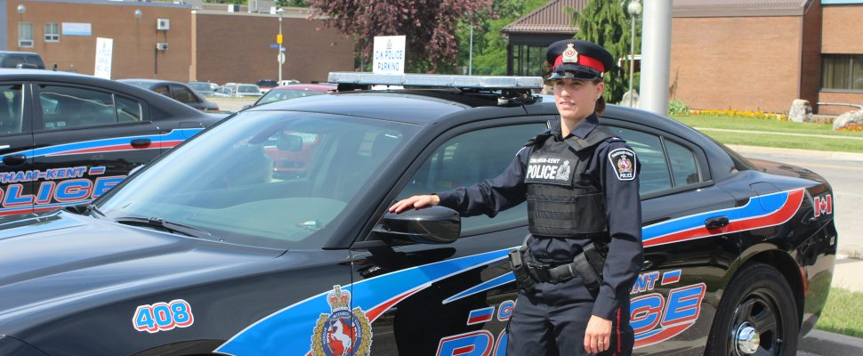 Const. Renee Cowell with the Chatham-Kent Police Service. (Photo by Greg Higgins)