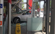 A car crashed through the front entrance of the Shoppers Drug Mart at 645 Commissioners Rd. E, June 12, 2018. Photo submitted by Alexandria Brewer.