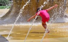 Child playing in spray pad. File photo courtesy of© Can Stock Photo / lucidwaters