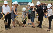Representatives and students from the St. Clair Catholic District School Board officially broke ground on the new elementary school being built on McNaughton Ave. in Catham-Kent. June 18, 2018. (Photo by Greg Higgins)