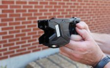 The model of taser used by the CK Police. (Photo by Greg Higgins)