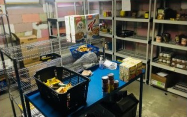 (Photo of the food bank at the Welcome Centre Shelter for Women courtesy of the Welcome Centre Shelter for Women)