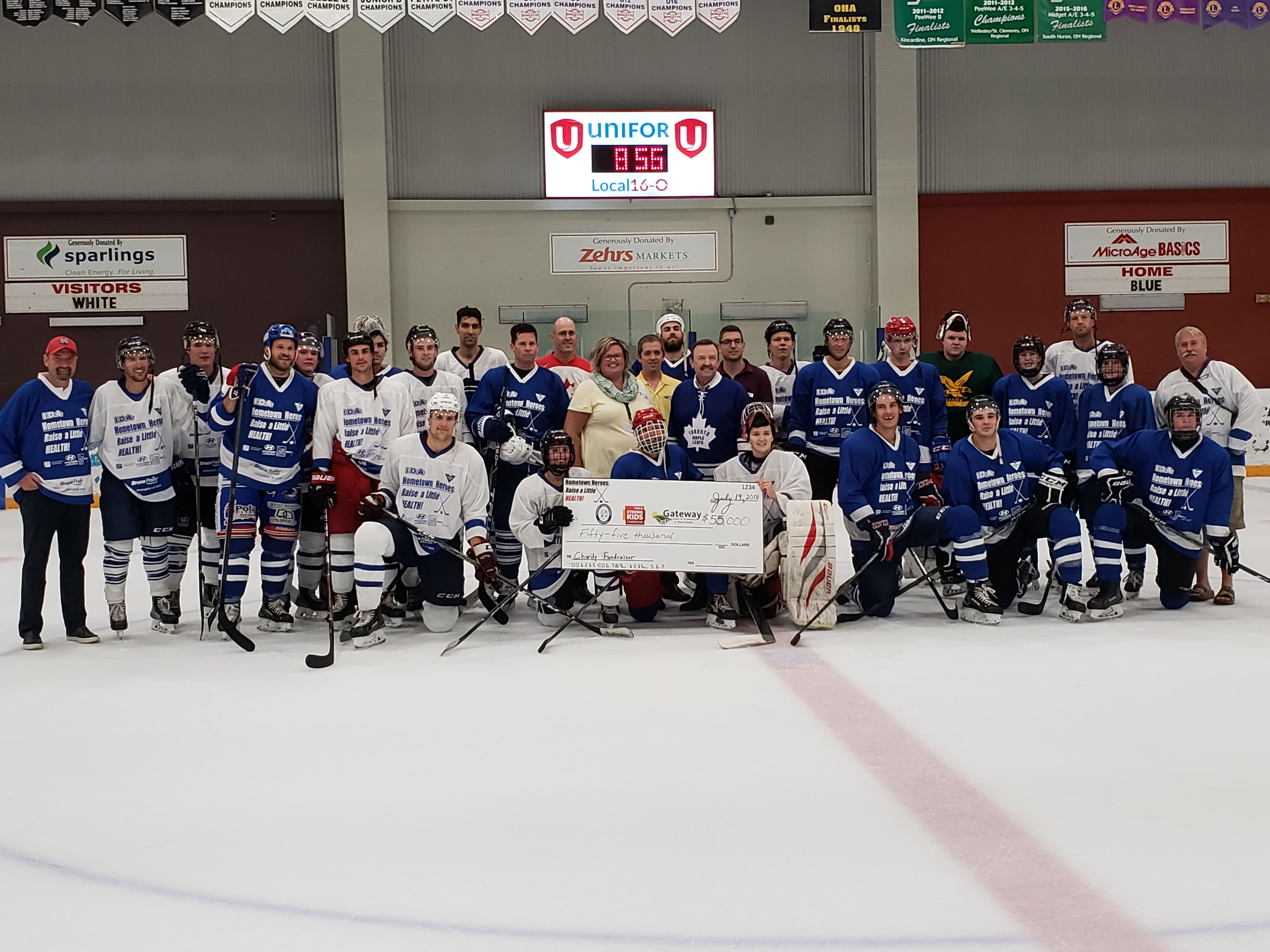 Goderich Hockey Fundraising Total Climbs