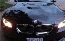 Lasalle police say a black 2008 BMW was stolen while being test driven. July 12, 2018. (Photo courtesy of Lasalle Police)