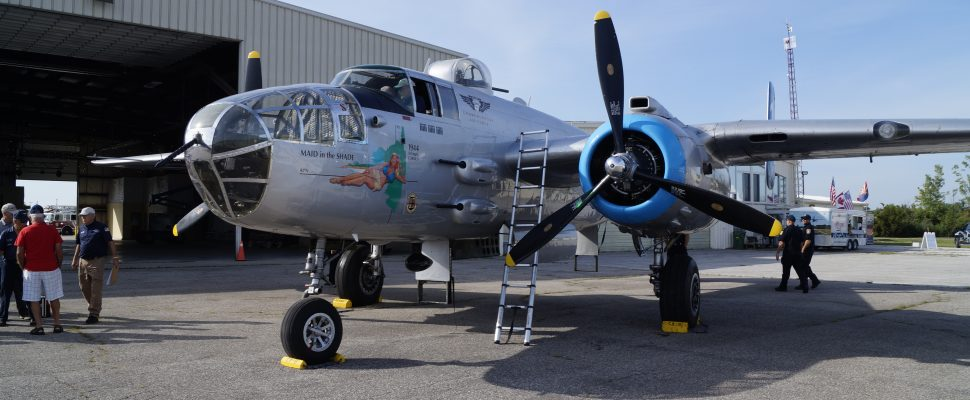 "The B-25 ""Maid In The Shade"". July 12, 2018. (Photo by Colin Gowdy, BlackburnNews)"