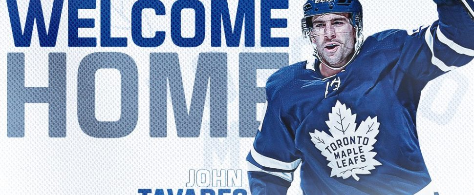 John Tavares (Photo courtesy of Toronto Maple Leafs Twitter).