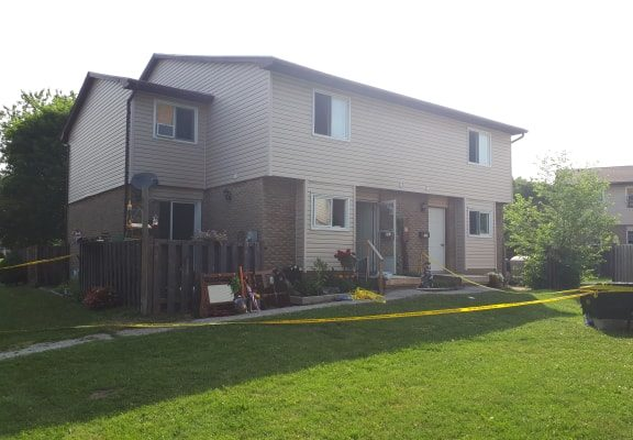 A fire broke out in the basement of a two-storey multi-unit home. July 11, 2018. (Photo by Colin Gowdy, BlackburnNews)